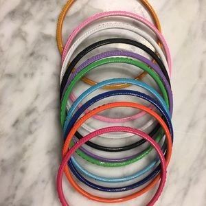 Multicolored bangles metallic bright colored